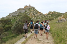 Visitor masses on Islas Cies, Galicia, Spain