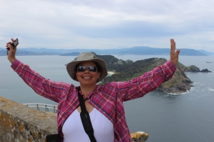 Reached the tops ! Islas Cies, Galicia, Spain