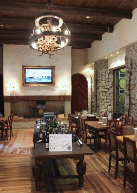 Restaurant area at Fairview Wine and Cheese, Stellenbosch, South Africa