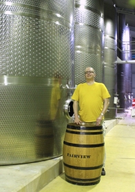 Wine Tanks at Fairview Wine and Cheese, Stellenbosch, South Africa