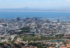 Tele-view on Cape Town from Tafelberg Road, South Africa