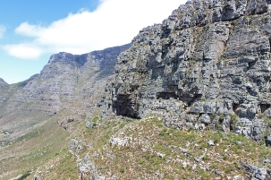 View from the Table Mountain Aerial Cableway on Table Mountain; South Africa