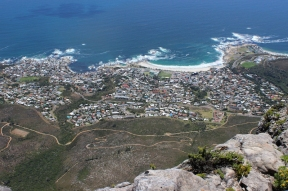 View from Table Mountain over Camps Bay, South Africa
