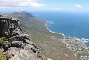 View from Table Mountain South with Camps Bay, South Africa