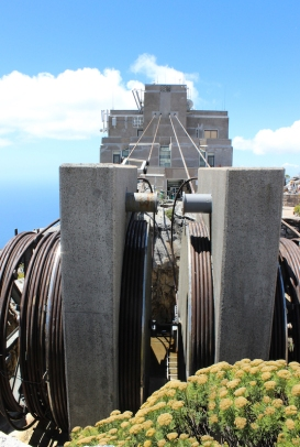 Table Mountain Aerial Cableway upper cable station; South Africa