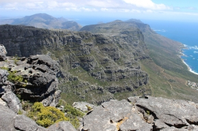 View from Table Mountain South in the direction of Hout Bay, South Africa