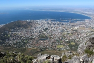 View over Cape Town from Table Mountain, South Africa