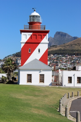 Green Point Lighthouse, Cape Town, South Africa - Table Mountain in the background