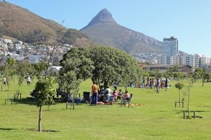 Green Point Park in Cape Town with Lion's Head in the background, South Africa