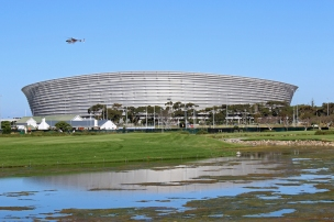 View on Cape Town Stadium from Green Point Park, South Africa