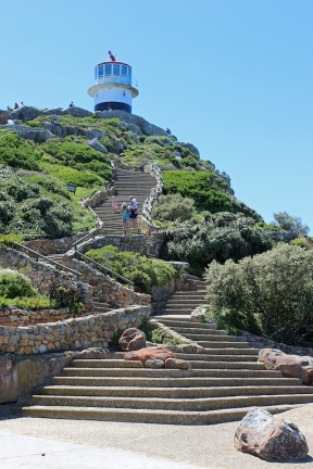 Stairway to Old Cape Point Lighthouse, South Africa