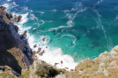 View from the cliffs at Old Cape Point Lighthouse, South Africa
