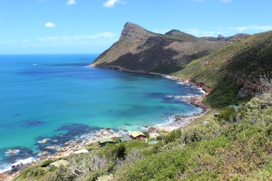 Cape Peninsula, along False Bay towards towards Cape of Good Hope, South Africa