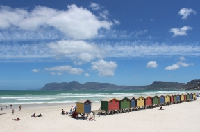 Colourful beach houses, Muizenberg, False Bay, South Africa