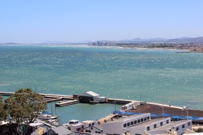 View over False Bay from Gordon's Bay, Western Cape, South Africa