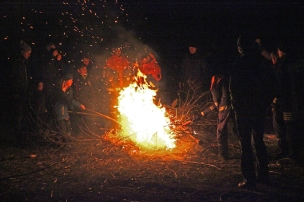 Funkenfeuer 2017 - Childrens' Bonfire in Mettenberg (Biberach), Germany