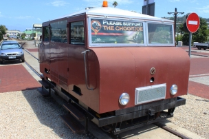 The Choo-Tjoe Trolley in the parking lot at the Knysna Waterfront - Knysna, Westkap - South Africa