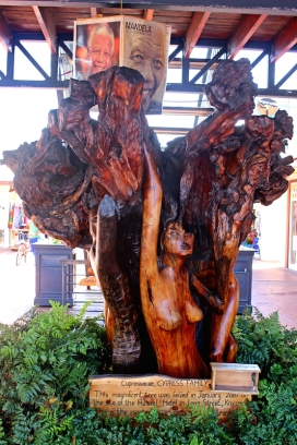 Carved statue from cypress wood at Knysna Waterfront - Knysna - South Africa