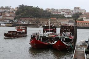 boats on Douro river Porto and Vila Nova de Gaia