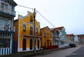 Palheiros, Striped houses, Costa Nova do Prado, Costa Nova beach, Silver Coast, Aveiro river, Rio de Aveiro, Portugal