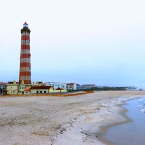 Lighthouse of Praia da Barra, Farol de Aveiro, Barra beach, Portugal, Silver Coast