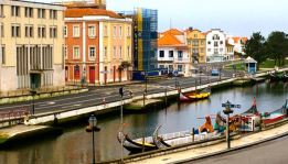 Canal view from Aveiro Palace Hotel
