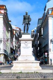 Lisbon, Lisboa, Portugal, Duke of Terceira Statue, Terceira Square