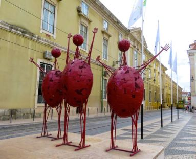 Abstract Sculptures, Praça do Município, Municipal Square, City Square, Lisbon, Lisboa, Portugal