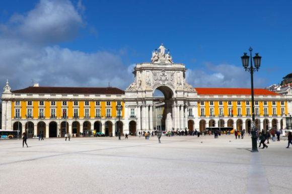 Praça do Comércio, Commerce Square, Arco Triunfal da Rua Augusta, Triumphal Arch of Augusta Street, Lisbon, Lisboa, Portugal