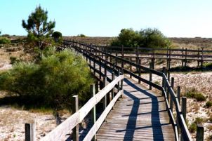 Walkway, Boardwalk, Troia Peninsula, Troia Beach, Sado Estuary, Praia de Troia, Portugal